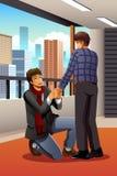 Homosexueller Mann, der zu seinem Freund vorschlägt vektor abbildung