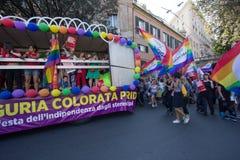 2016 homosexueller Stolz Genua Lizenzfreie Stockfotos