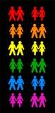 Homosexuelles Paar-Schwarzes Stockbild