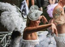 Homosexuelles Pride Canal Parade Amsterdam 2014 stockfotografie