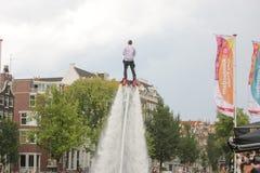 Homosexuelles Pride Canal Parade Amsterdam 2014 lizenzfreie stockfotos
