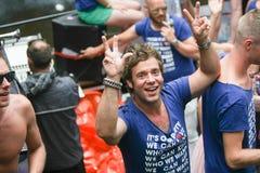 Homosexuelles Pride Canal Parade Amsterdam 2014 lizenzfreie stockbilder