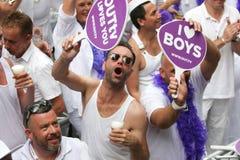 Homosexuelles Pride Canal Parade Amsterdam 2014 lizenzfreie stockfotografie