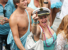 Homosexuelles Pride Canal Parade Amsterdam 2014 stockfotos