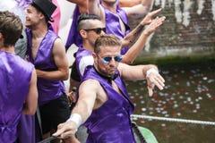 Homosexuelles Pride Canal Parade Amsterdam 2014 stockbilder