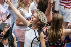 Homosexuelles Pride Canal Parade Amsterdam 2014 stockbild