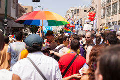 Homosexuelles Pride Parade Tel-Aviv 2013 Stockfotografie