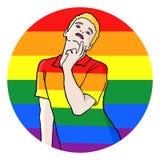 Homosexuellt symbol Fotografering för Bildbyråer
