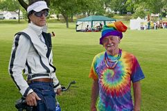Homosexuels célébrant le 4ème juillet Image libre de droits
