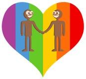 Homosexuels heureux illustration libre de droits