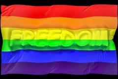Homossexual da liberdade da bandeira Foto de Stock Royalty Free