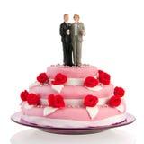 Homossexual do bolo de casamento Fotos de Stock