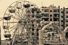 Homsstad in Syrië stock afbeelding
