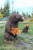 Hon-björn och björngröngöling Royaltyfria Foton