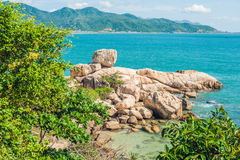 Hon Chong cape, Garden stone, popular tourist destinations at Nha Trang. Vietnam Royalty Free Stock Photography