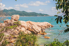 Hon Chong cape, Garden stone, popular tourist destinations at Nha Trang. Vietnam. Asia Travel concept. Journey through Vietnam Concept Royalty Free Stock Photos