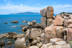 Hon Chong Promontory at Nha Trang City, Vietnam. Hon Chong Promontory is one of the most popular tourist attractions in Nha Trang city, Vietnam stock image
