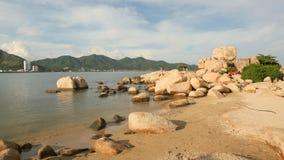 Hon Chong przylądek Popularni turystyczni miejsca przeznaczenia przy Nha Trang Wietnam zdjęcie royalty free