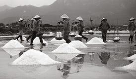 Hon Khoi Salt Village Fotos de archivo libres de regalías