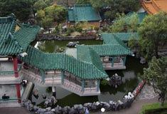 Hon Kong De tempel van de Zonde van Wong tai De mening van het landschap Royalty-vrije Stock Foto's