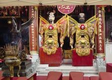 Hon Kong Nel tempio cinese Immagini Stock Libere da Diritti