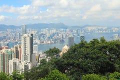 Hon Kong Opinião do dia Fotos de Stock Royalty Free