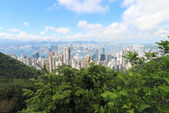 Hon Kong Visión desde el pico imagen de archivo
