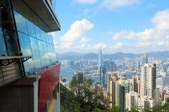 Hon Kong Visión desde Victoria Peak Foto de archivo