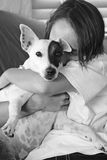 Hond & Zijn Jongen Royalty-vrije Stock Afbeeldingen