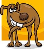 Hond die de illustratie van het staartbeeldverhaal achtervolgt Stock Foto