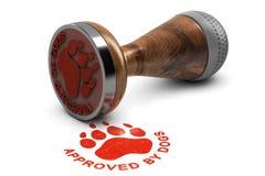 Hond die of het Verzorgen Tevredenheidsetiket opleiden Stock Foto's
