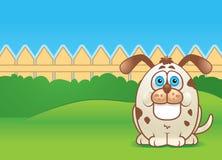 Hond in een Werf vector illustratie
