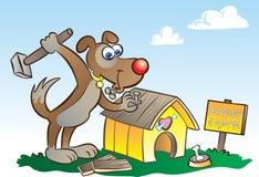 Hond en huis stock illustratie