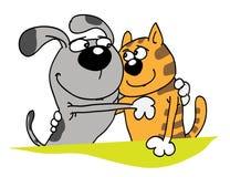 Hond en kat vector illustratie