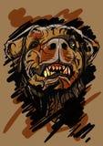 Hond hoofdillustratie - editable vector grafisch Stock Fotografie