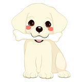 Hond met Been vector illustratie