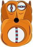 Hond met wat ziekte of klinische pathologie royalty-vrije illustratie