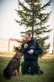 Hond opleiding Royalty-vrije Stock Foto's