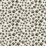 Hond Paw Print Seamless, anilams patroon, vectorillustratie Stock Fotografie