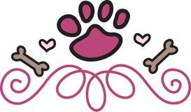 Hond Paw Swirl Stock Afbeelding