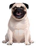 Hond Pug stock illustratie