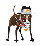Hond-sheriff Royalty-vrije Stock Afbeeldingen