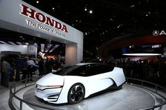 Honda's future concept car at the auto show Royalty Free Stock Images