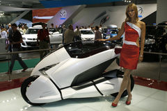 Honda 3R-C. At the Moscow International Automobile Salon (MIAS-2010) August 25 - September 5 Royalty Free Stock Photography