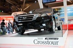 Honda Accord 2010 Crosstour en el autoshow Imagen de archivo libre de regalías