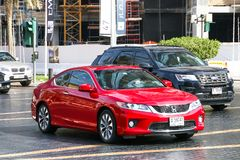 Honda Accord. Dubai, UAE - November 16, 2018: Red motor car Honda Accord in the city street stock photo