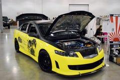 Honda Accord VII nell'Expo 2012 del croco Immagini Stock