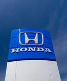Honda Autombile Dealership Sign Stock Image