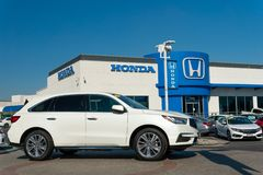 Honda Automobile Dealership Exterior and Trademark Logo royalty free stock photo
