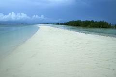 Honda bay white beach background palawan island philippines